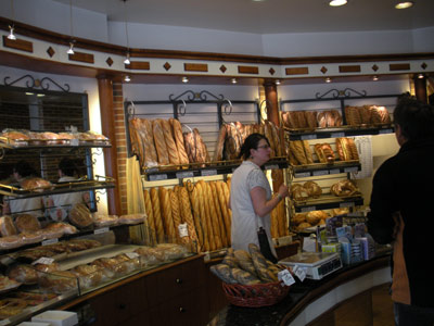 A breadshop in France